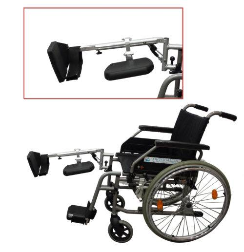 Leg lift for large wheelchairs