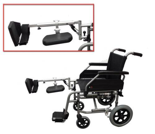 Leg lift for small wheelchair